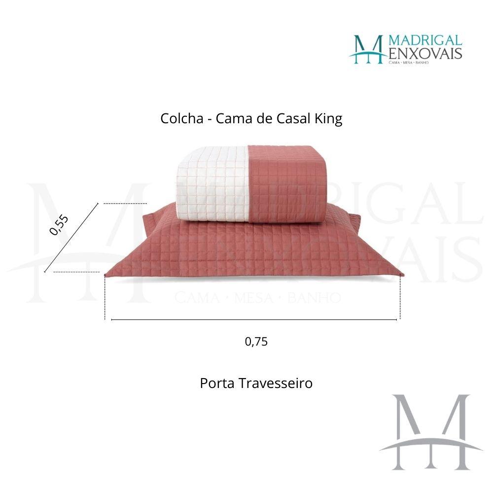 Cobreleito Plaza Lavive King 03 Peças Dupla Face Cobre