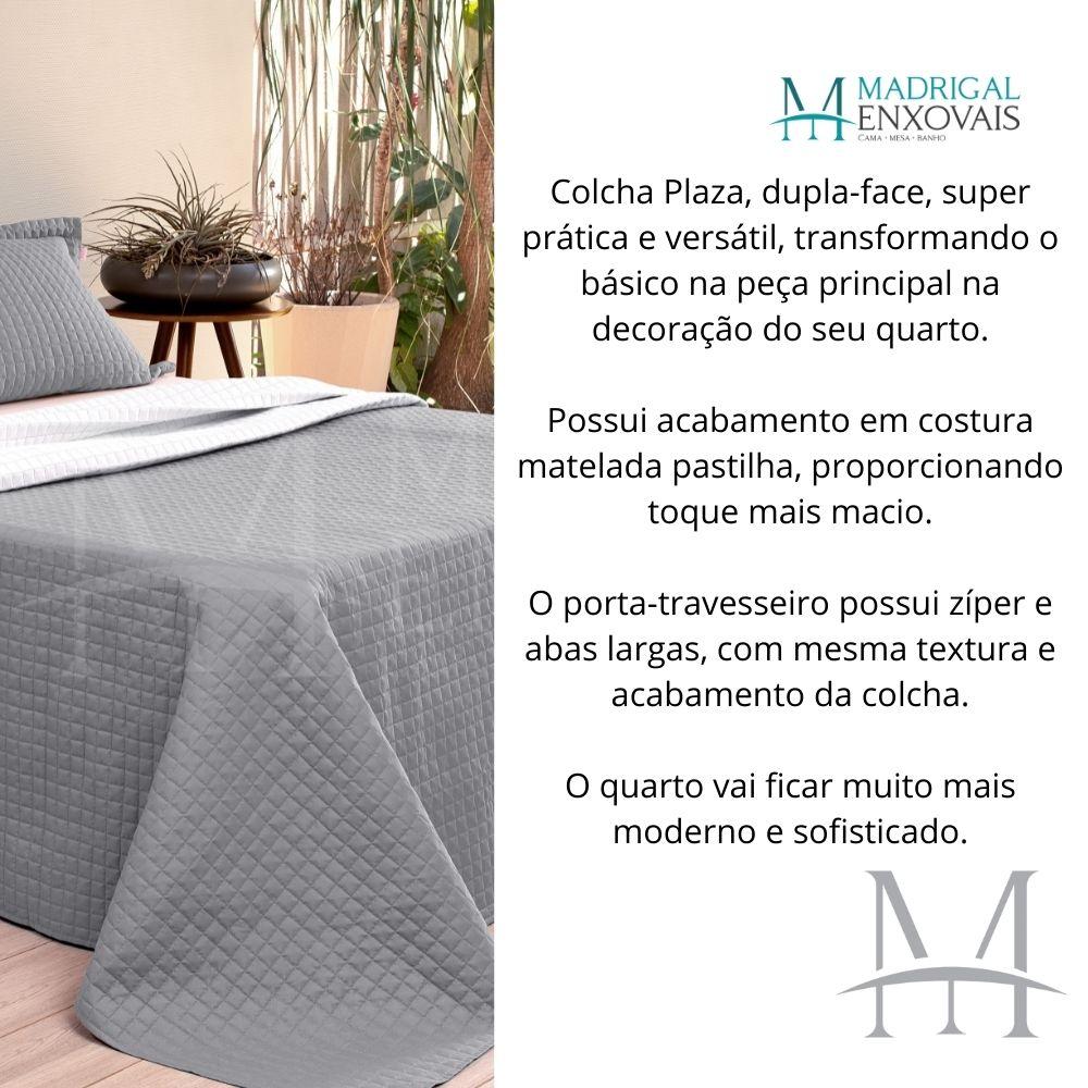 Cobreleito Plaza Lavive King 03 Peças Dupla Face Gris Cinza