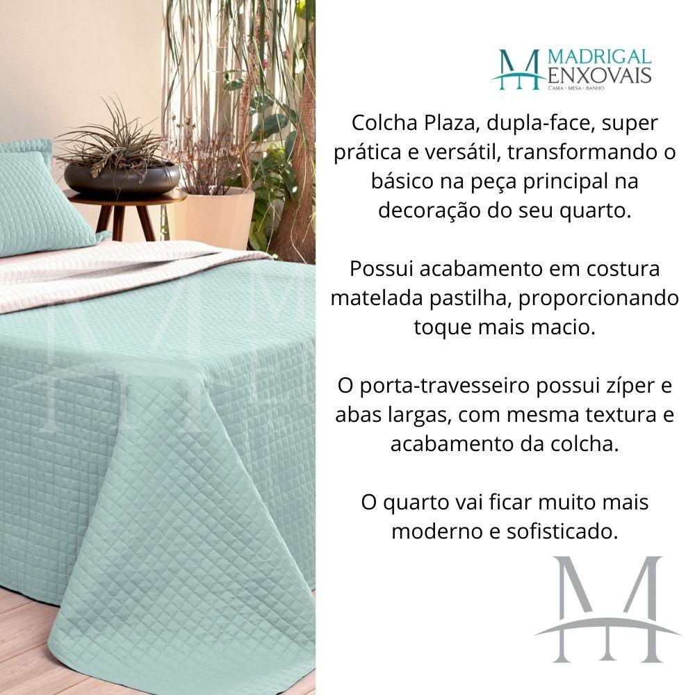 Cobreleito Plaza Lavive King 03 Peças Dupla Face Verde Malva
