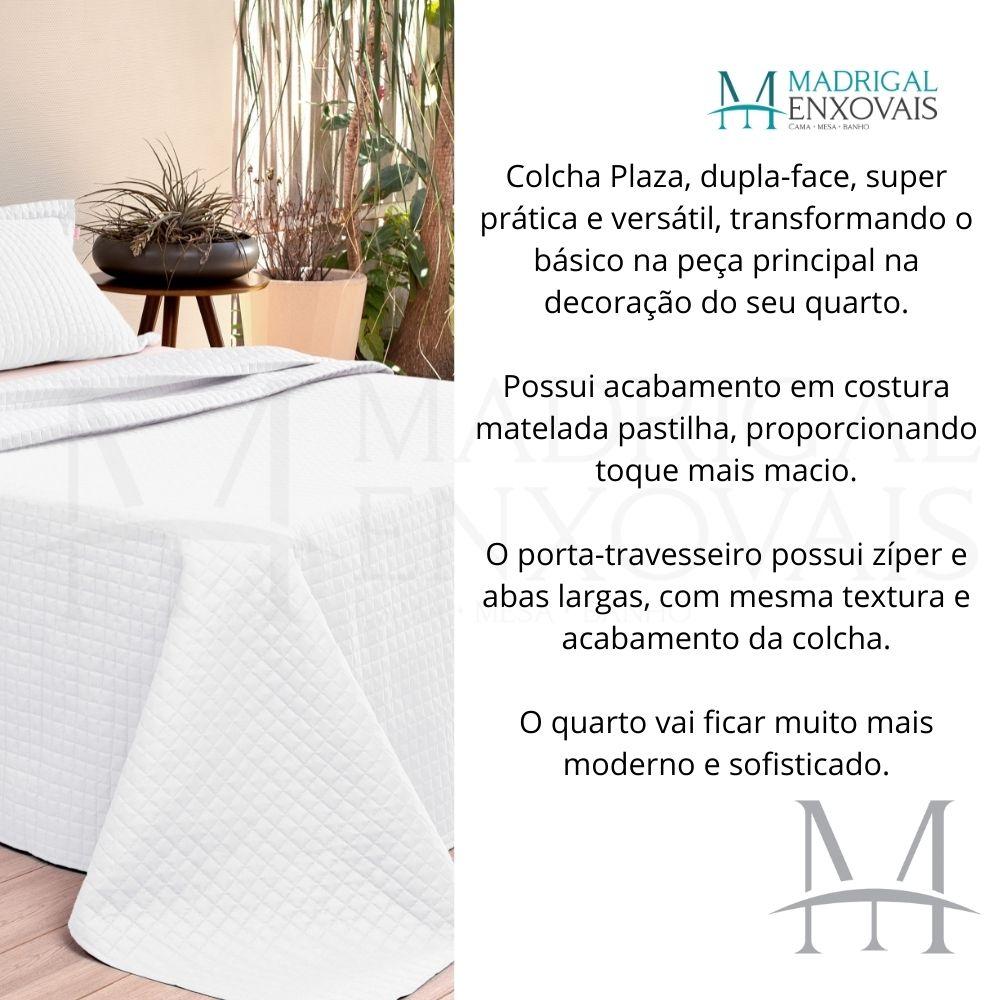 Cobreleito Plaza Lavive Queen 03 Peças Dupla Face Branco