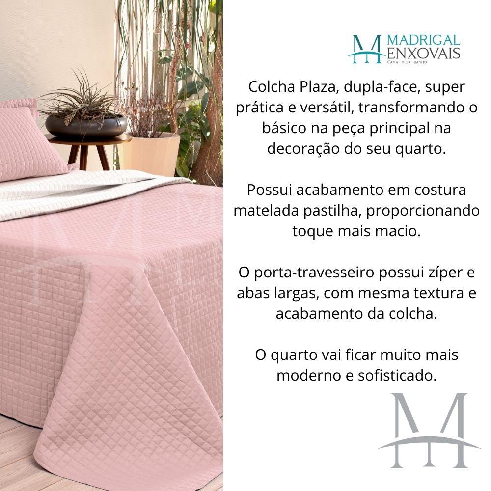 Cobreleito Plaza Lavive Solteiro 02 Pç Dupla Face Rose