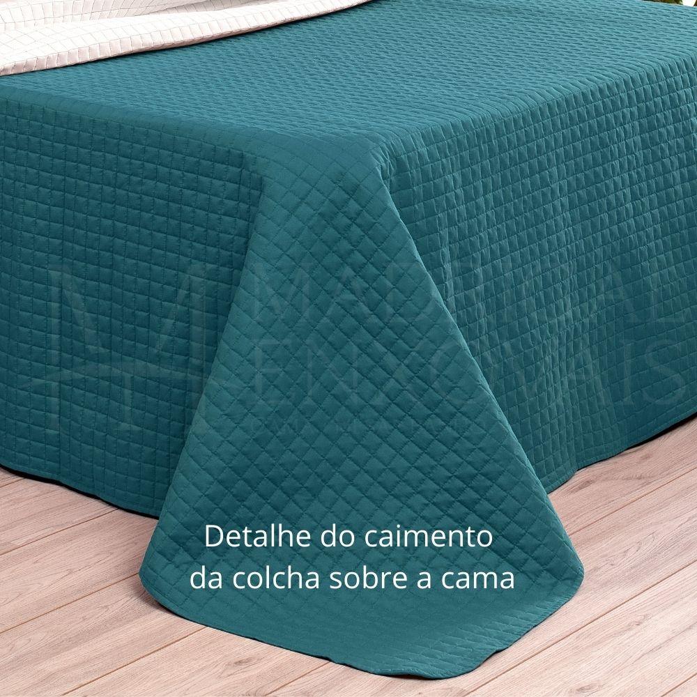 Cobreleito Plaza Lavive Solteiro 02 Pçs Dupla Face Verde Esmeralda