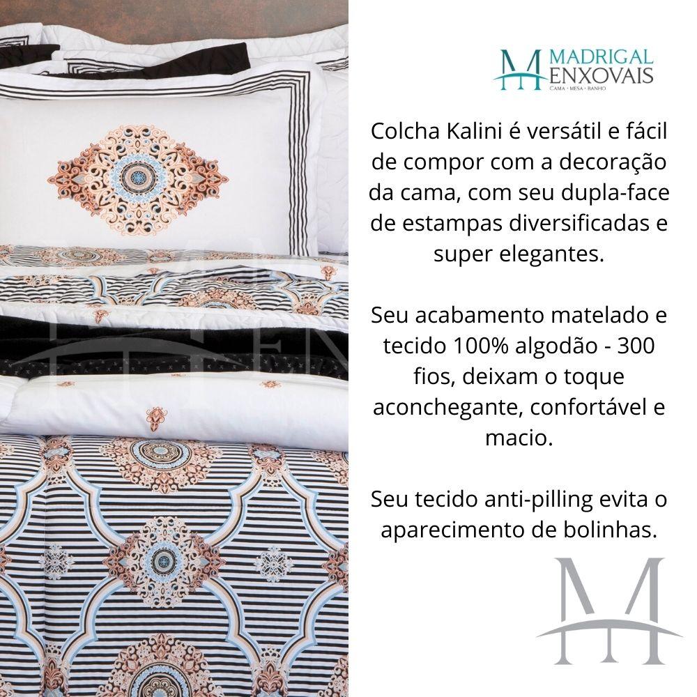 Cobreleito Queen 300 Fios Kacyumara Satinee 03 Peças Kalini