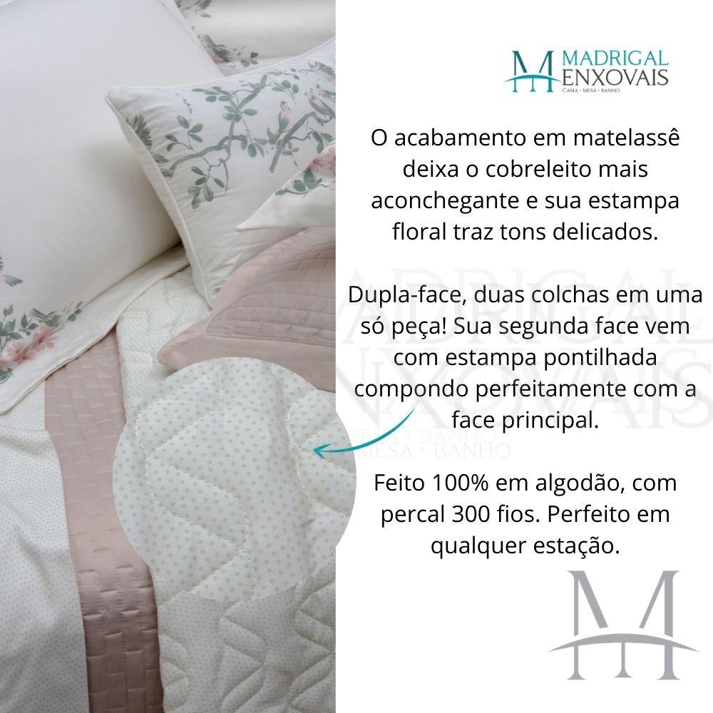Cobreleito Queen 300 Fios Kacyumara Satinee 03 Peças Nivy