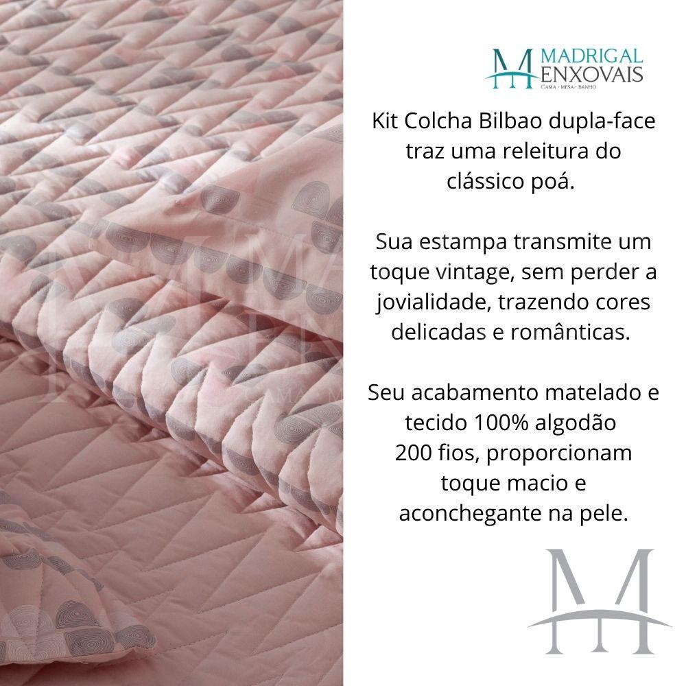 Cobreleito Solteiro Percal 200 Fios Naturalle 02 Peças Bilbao
