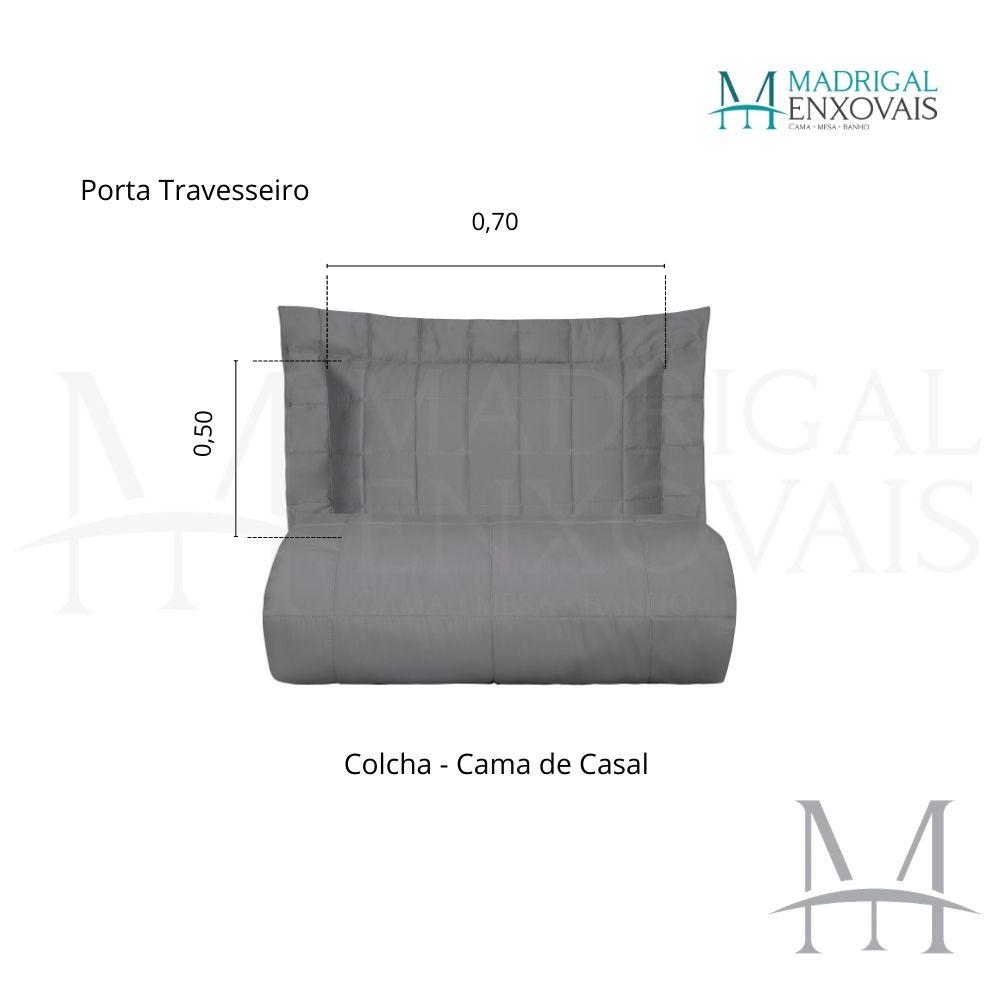 Colcha Casal 300 Fios Kacyumara Square 03 Peças Silver