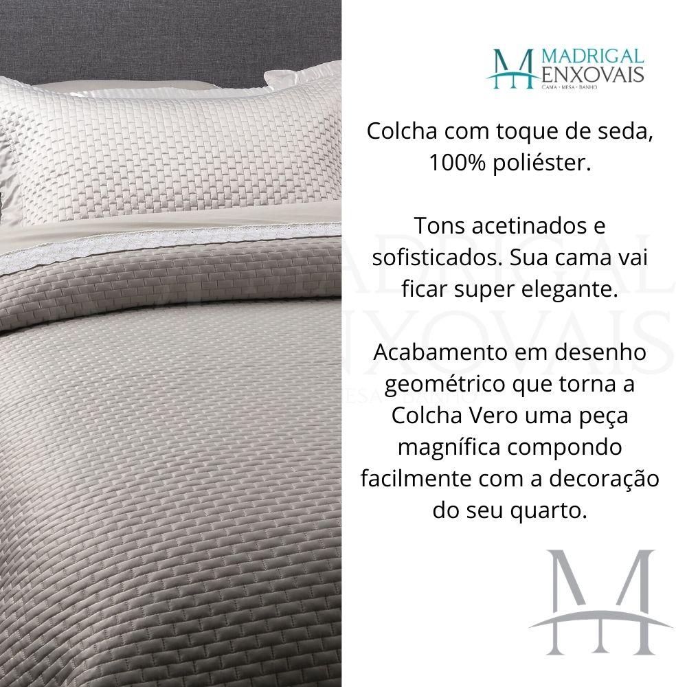 Colcha Casal Kacyumara Tacto Vero Toque de Seda 03 Peças Fend