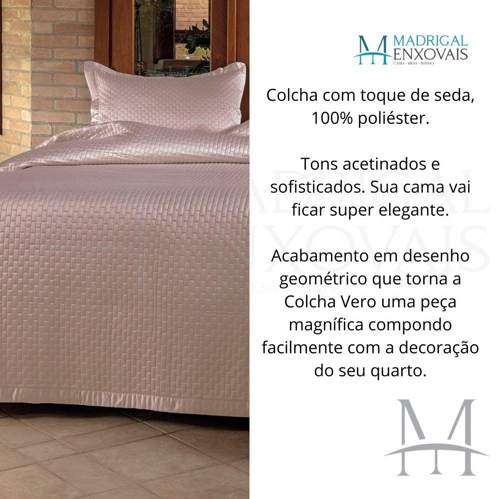 Colcha Casal Kacyumara Tacto Vero Toque de Seda 03 Peças Rose