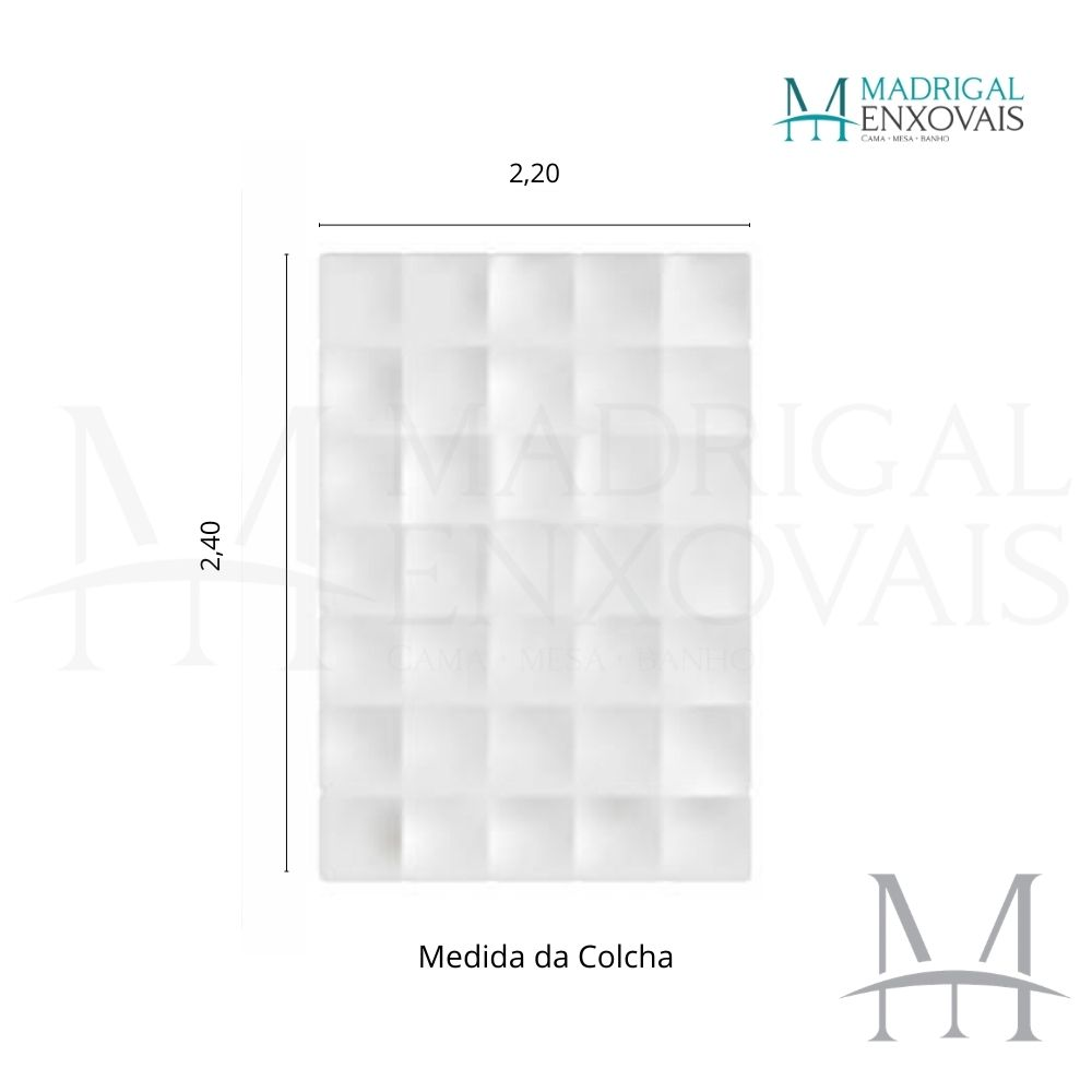Colcha Chenille Jolitex Casal FLÓRIDA Com Franja 2,20x2,40m Azul