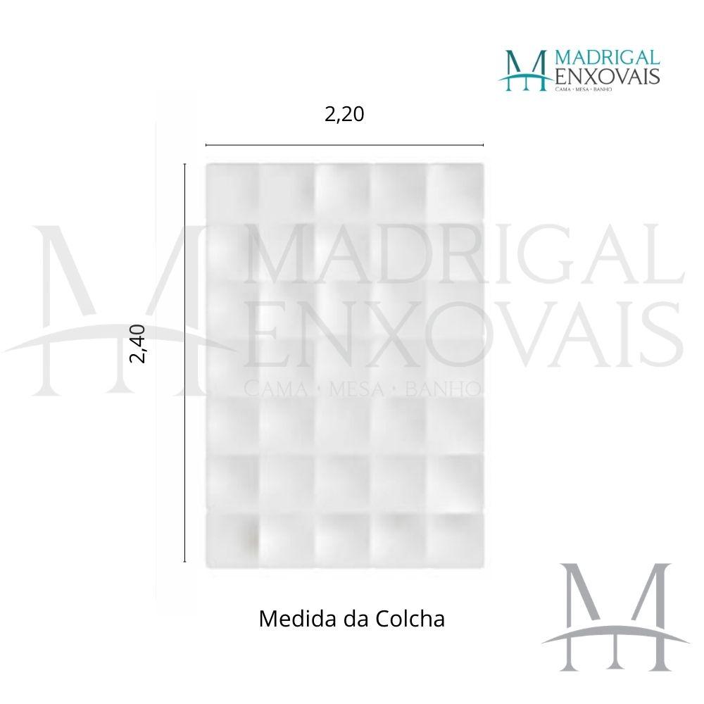 Colcha Chenille Jolitex Casal FLÓRIDA Com Franja 2,20x2,40m Verde