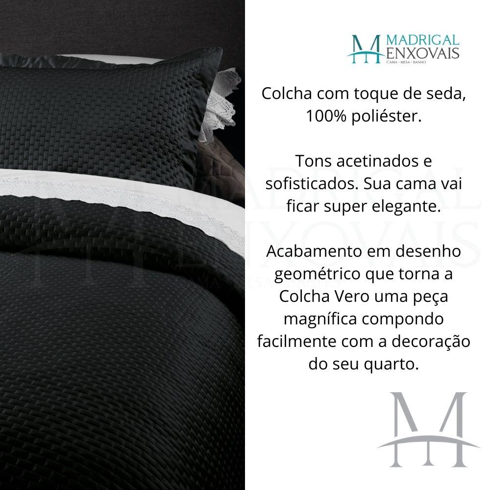 Colcha King Kacyumara Tacto Vero Toque de Seda 03 Peças Preto
