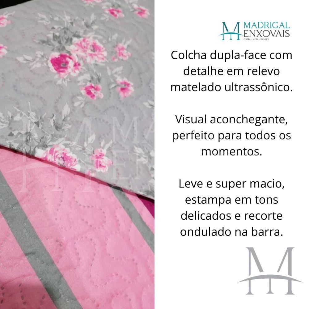 Colcha King Patchwork Ultrasonic Dyuri 03 Peças Cristalia