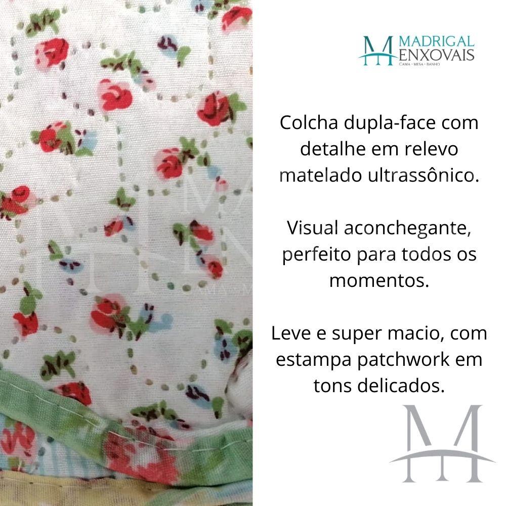 Colcha King Patchwork Ultrasonic Dyuri 03 Peças Itajuba