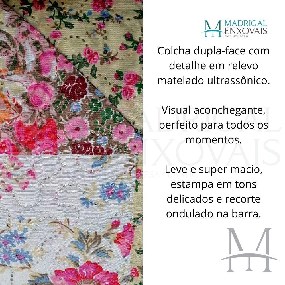 Colcha King Patchwork Ultrasonic Dyuri 03 Peças Itauna