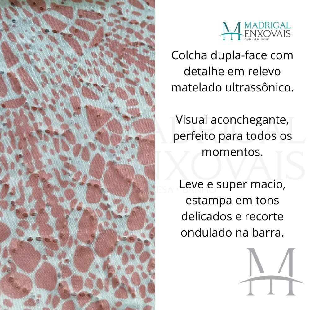 Colcha King Patchwork Ultrasonic Dyuri 03 Peças Mirabela