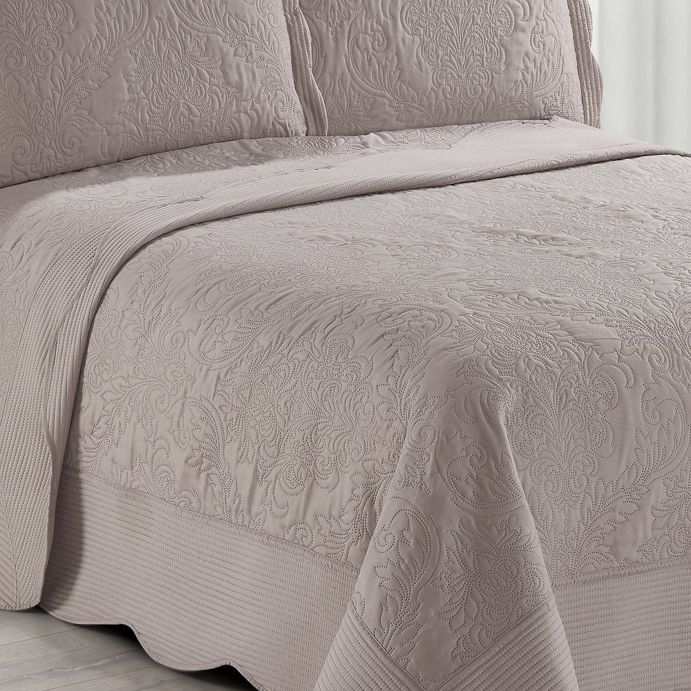 Colcha King Ultrasonic Camesa Antique 03 Peças Rose