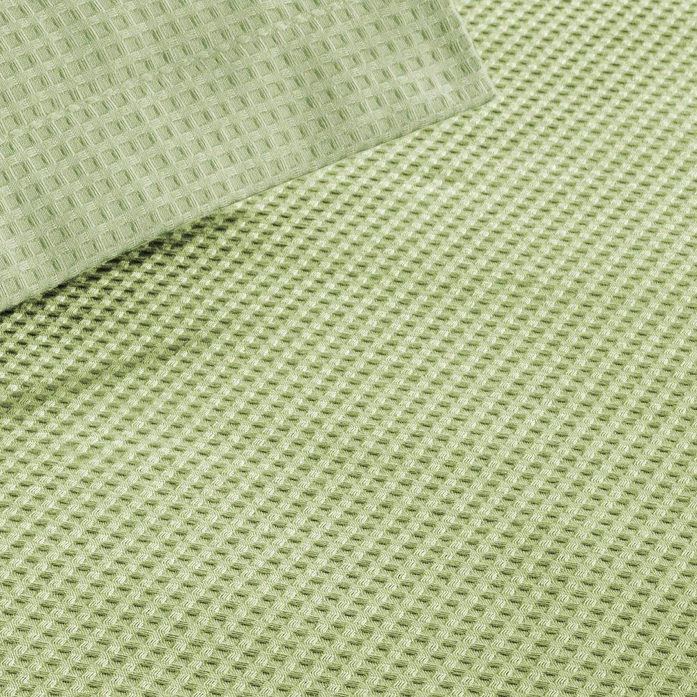 Colcha Piquet Favo Casal Teka Gênova Lisa 2,20x2,40m Verde