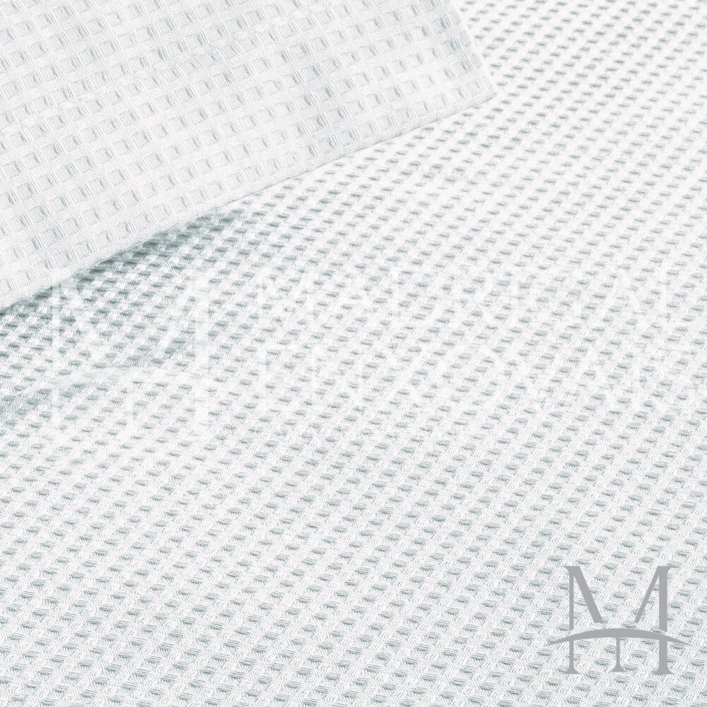 Colcha Piquet Favo Solteiro Teka Gênova Lisa 1,60x2,20m Branca