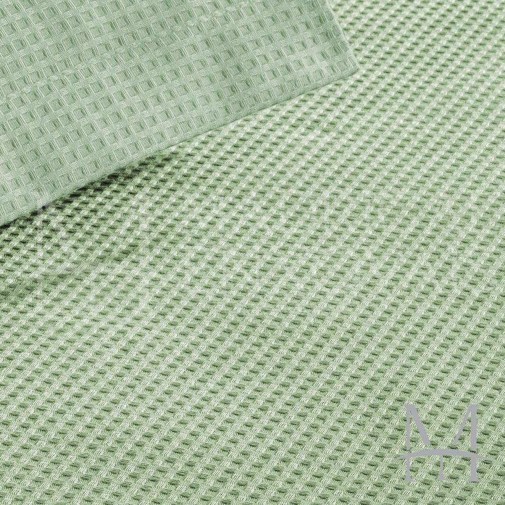 Colcha Piquet Favo Solteiro Teka Gênova Lisa 1,60x2,20m Verde