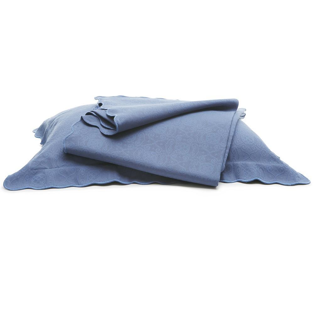 Colcha Piquet King Tognato Capela 100% Algodão Azul Indigo
