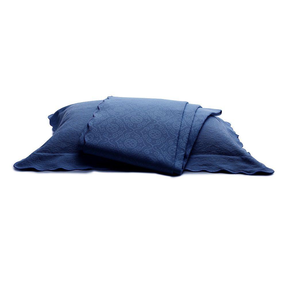 Colcha Piquet King Tognato Capela 100% Algodão Azul Marino