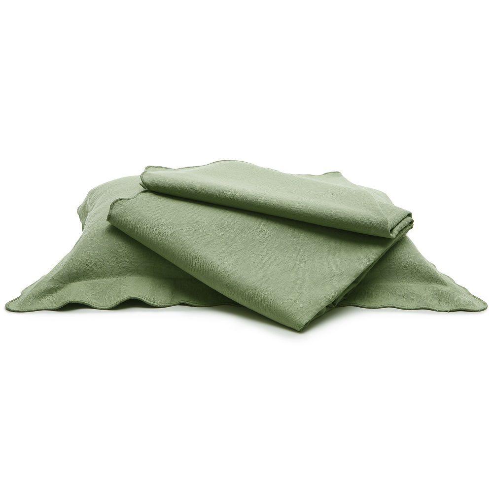 Colcha Piquet King Tognato Capela 100% Algodão Verde Chá