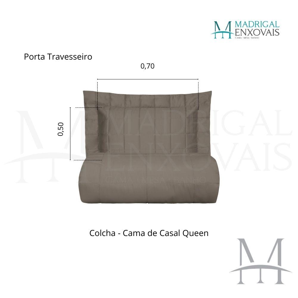 Colcha Queen 300 Fios Kacyumara Square 03 Peças Fend Stone