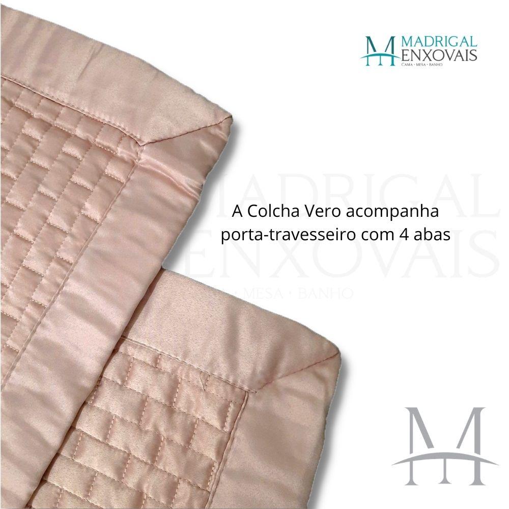Colcha Queen Kacyumara Tacto Vero Toque de Seda 03 Peças Rose
