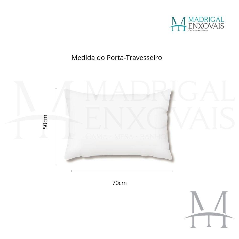 Colcha Queen Patchwork Corttex 03 Peças MILÃO #3 Lisa Cinza