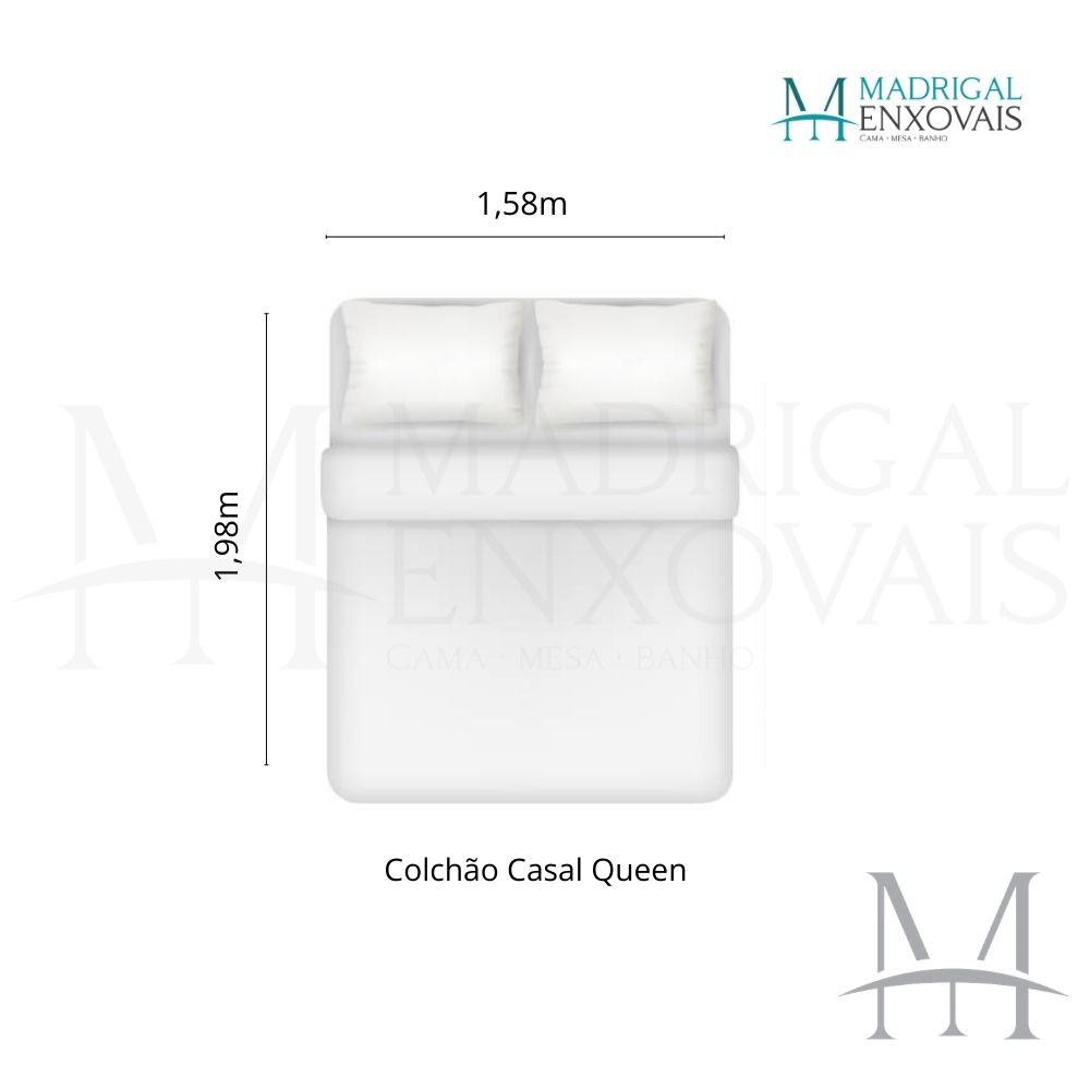Colcha Queen Patchwork Corttex 03 Peças MILÃO #3 Lisa Vermelha