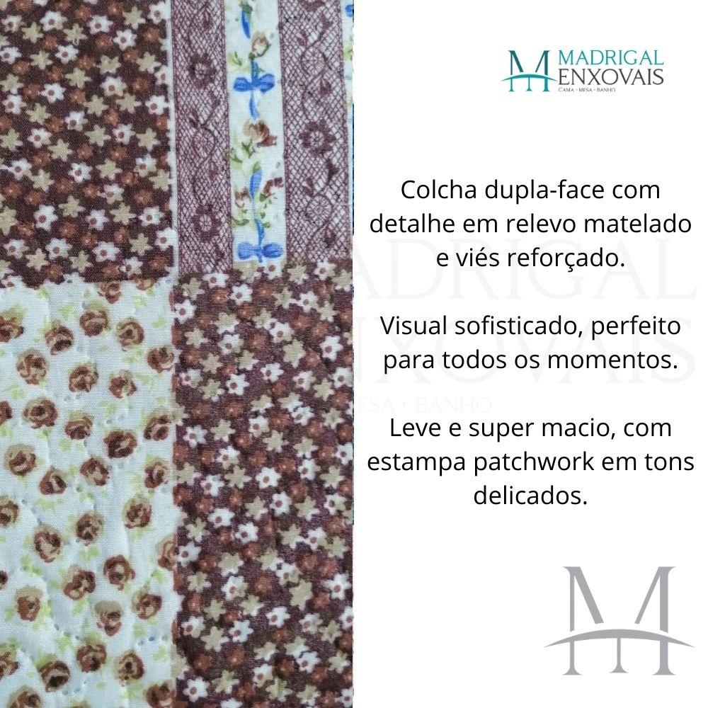 Colcha Queen Patchwork Corttex Paris Color 03 Peças Ingrid