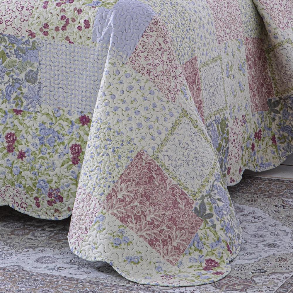 Colcha Queen Patchwork Corttex Paris Color 03 Peças Larah