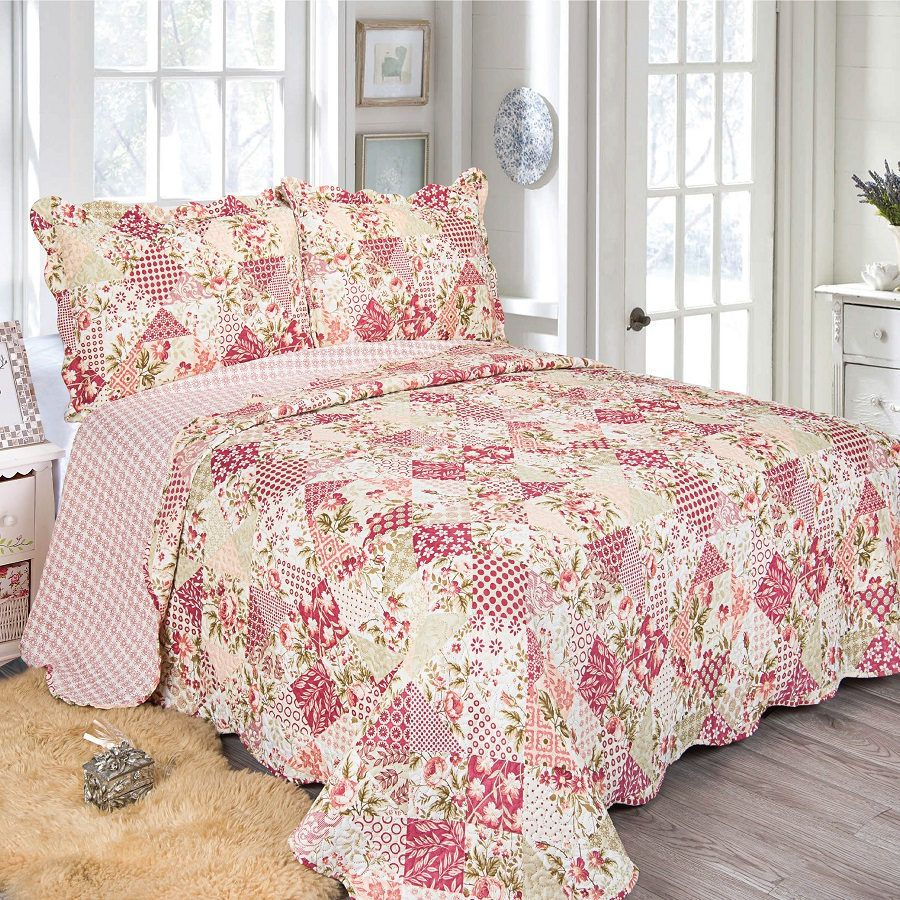 Colcha Queen Patchwork Evolution Camesa 03 Pçs Stona