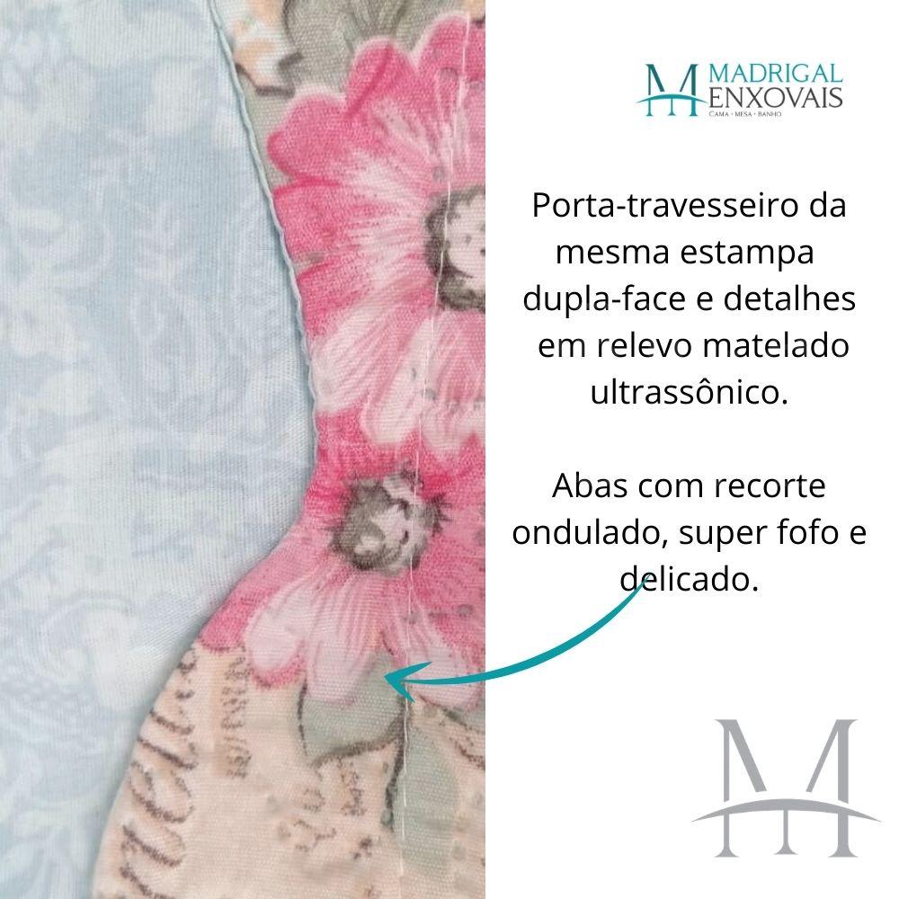 Colcha Queen Patchwork Ultrasonic Dyuri 03 Peças Piraquara