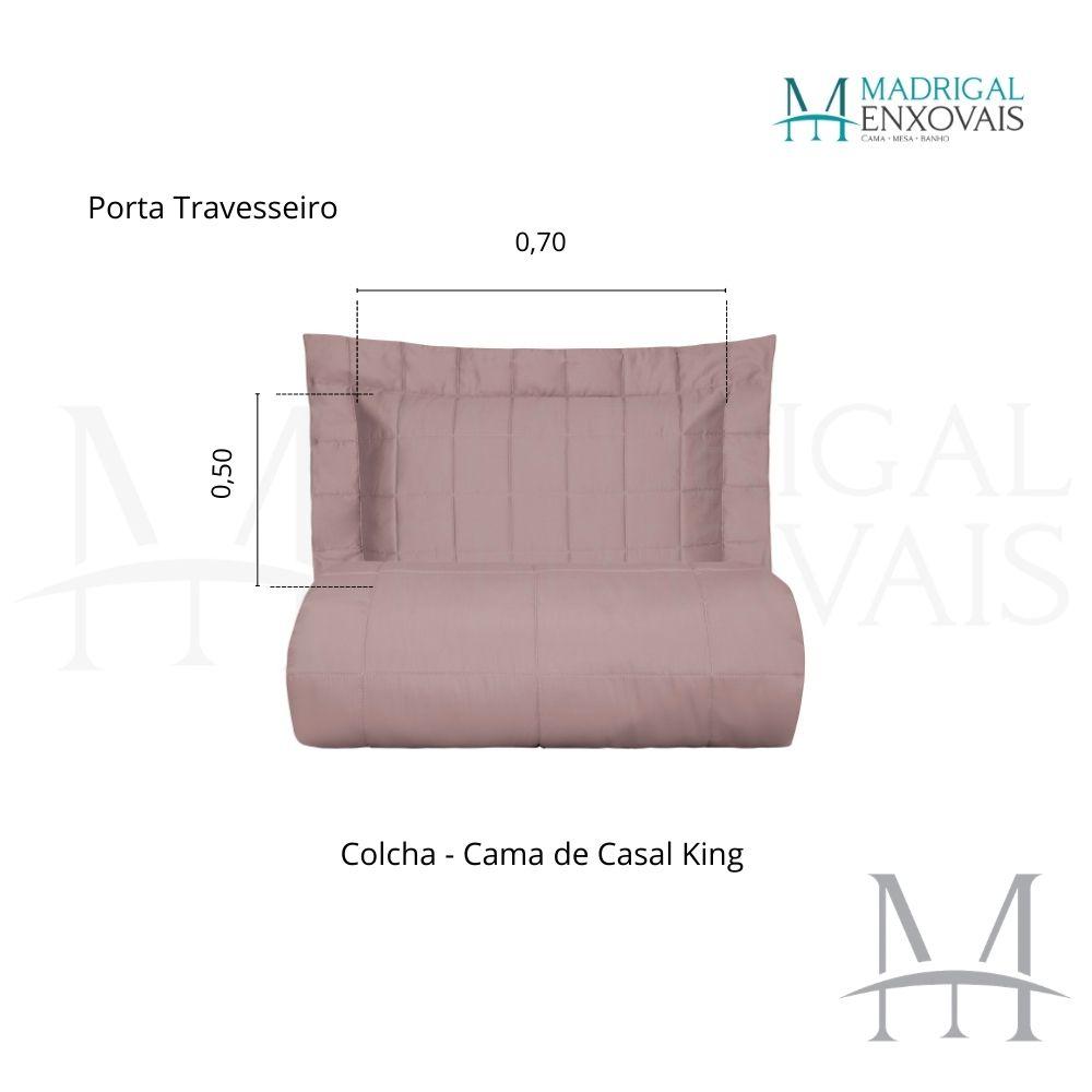 Colcha Super King 300 Fios Kacyumara Square 03 Peças In Rose
