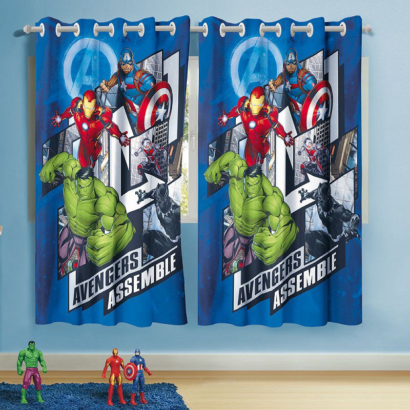 Cortina Infantil Avengers Vingadores 3,00m X 1,80m Lepper