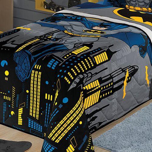 Edredom Infantil Solteiro Batman 1,50x2,00m Lepper