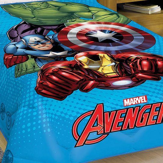 Edredom Infantil Solteiro Vingadores Avengers Lepper
