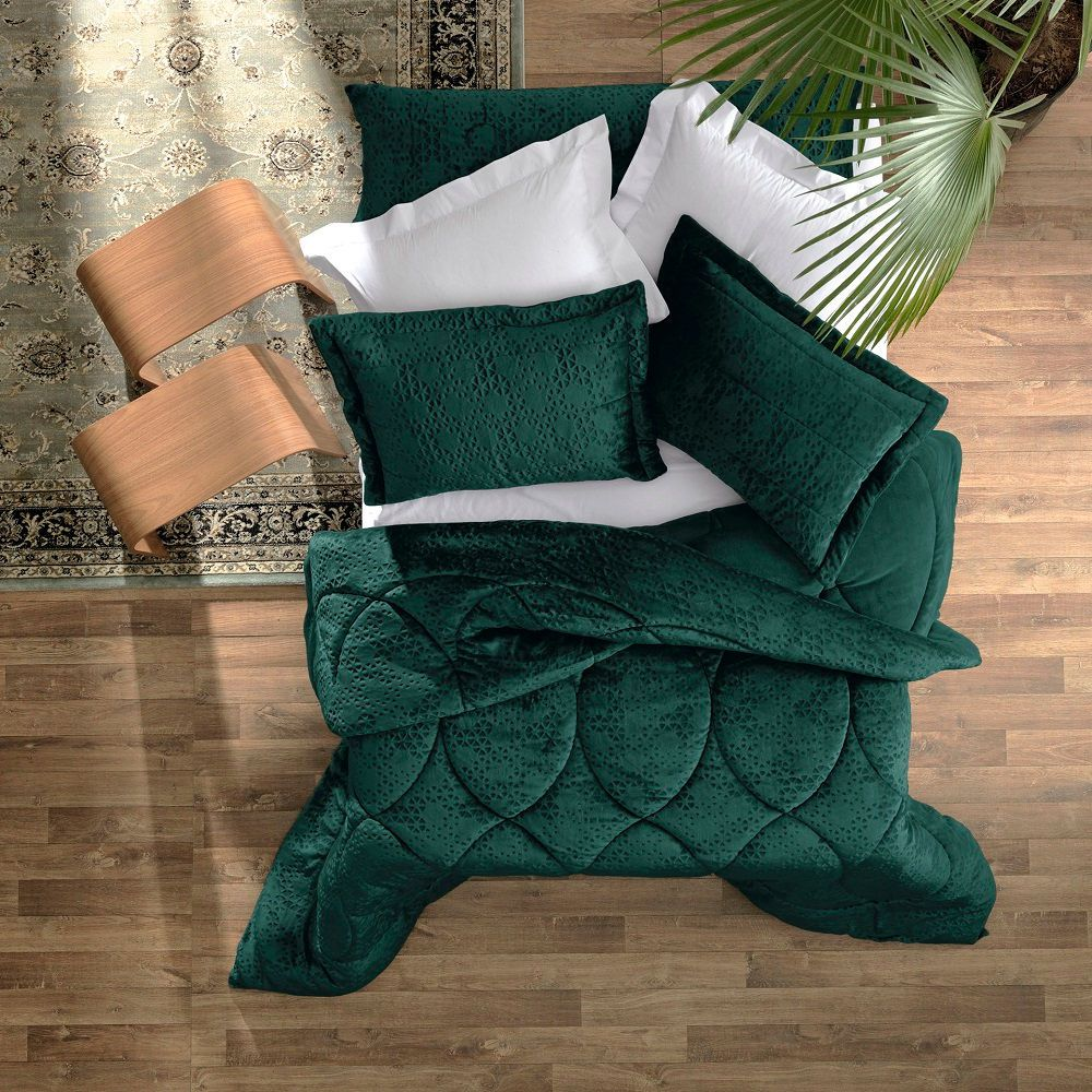 Edredom King Altenburg Blend Elegance Plush Prisma Verde