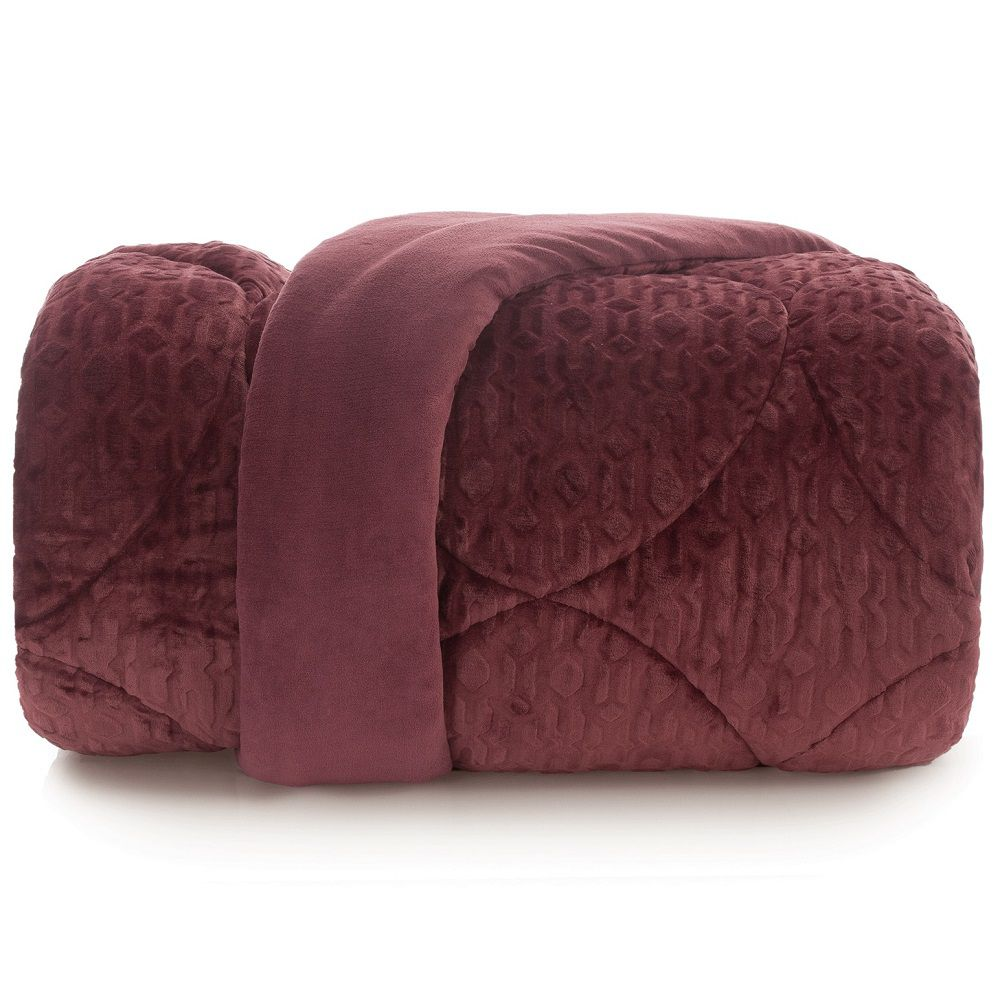 Edredom Queen Altenburg Blend Elegance Plush Energy Bordô