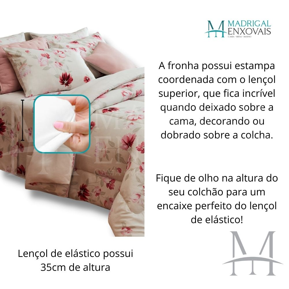 Jogo Cama Casal Casa com Casa 04 Peças Ares da Primavera