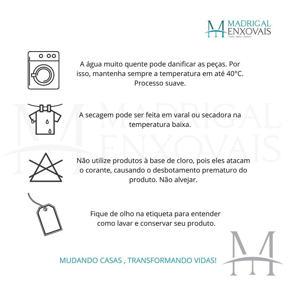 Jogo Cama Queen Casa com Casa 04 Peças Microfibra Bela Flor