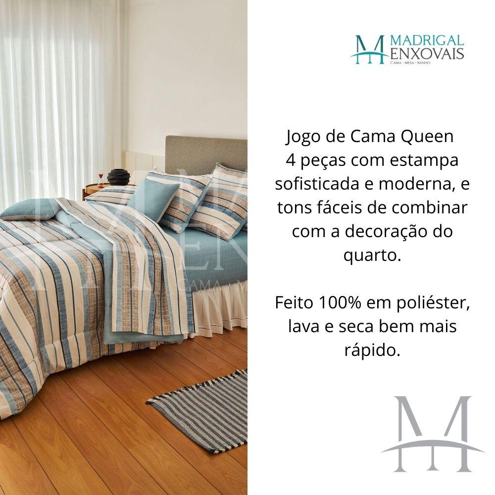Jogo Cama Queen Casa com Casa 04 Peças Tons de Equilíbrio