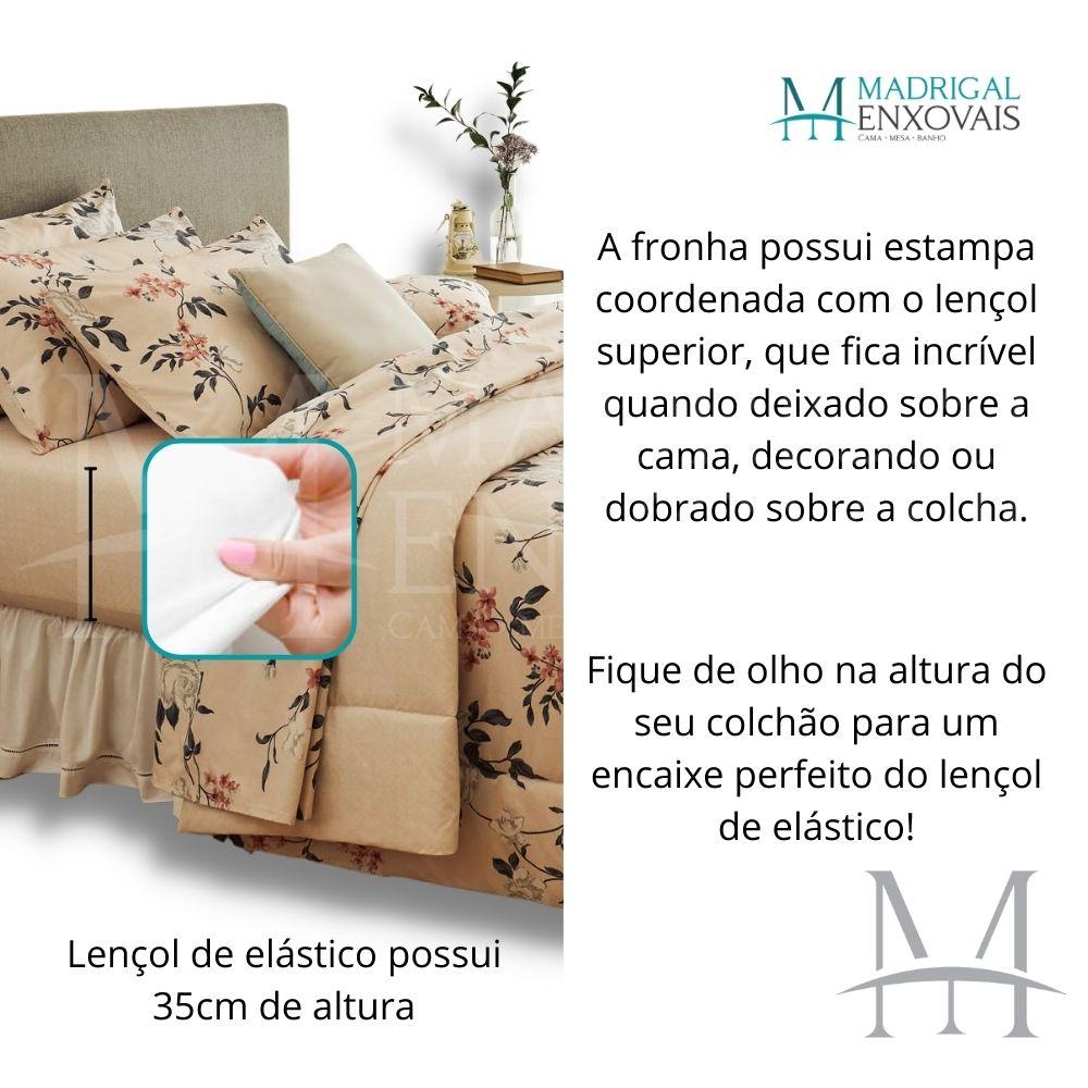 Jogo Cama Solteiro Casa com Casa 03 Peças Microfibra Bela Flor