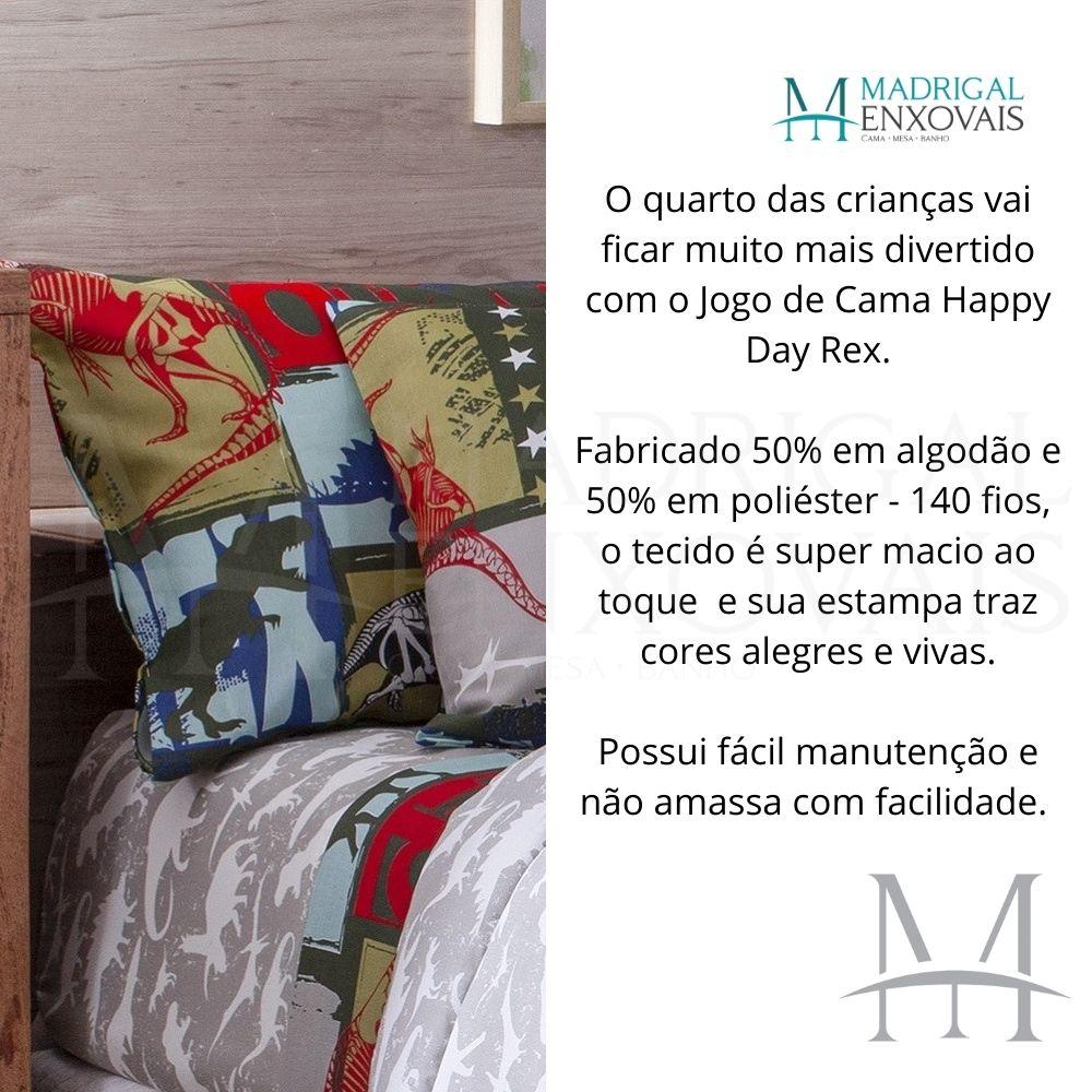 Jogo Cama Solteiro Happy Day Sultan 03 Peças Rex 140 Fios