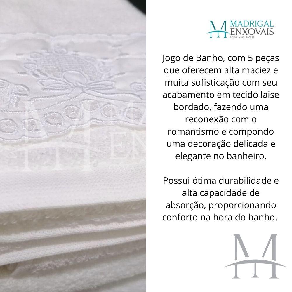 Jogo de Banho 05 Peças Lavive Brienza com Laise Bordada