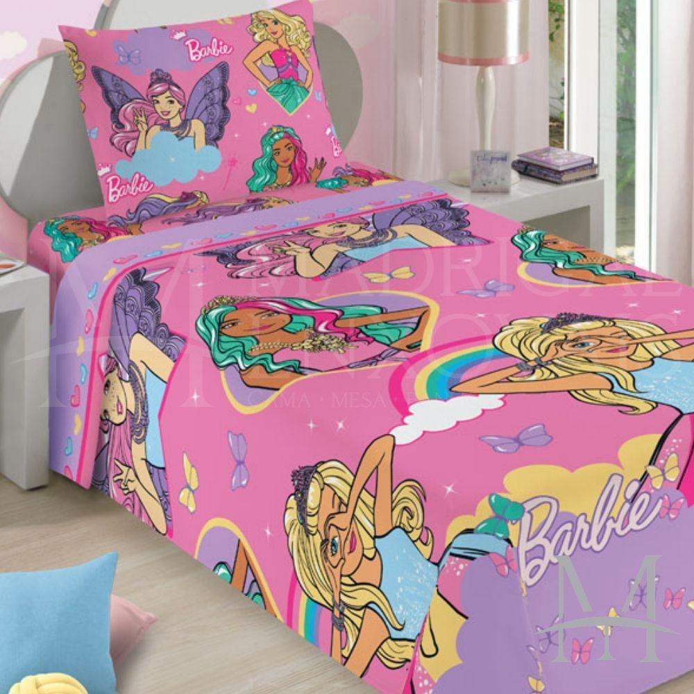 Jogo de Cama Infantil Barbie Lepper 02 Peças Microfibra