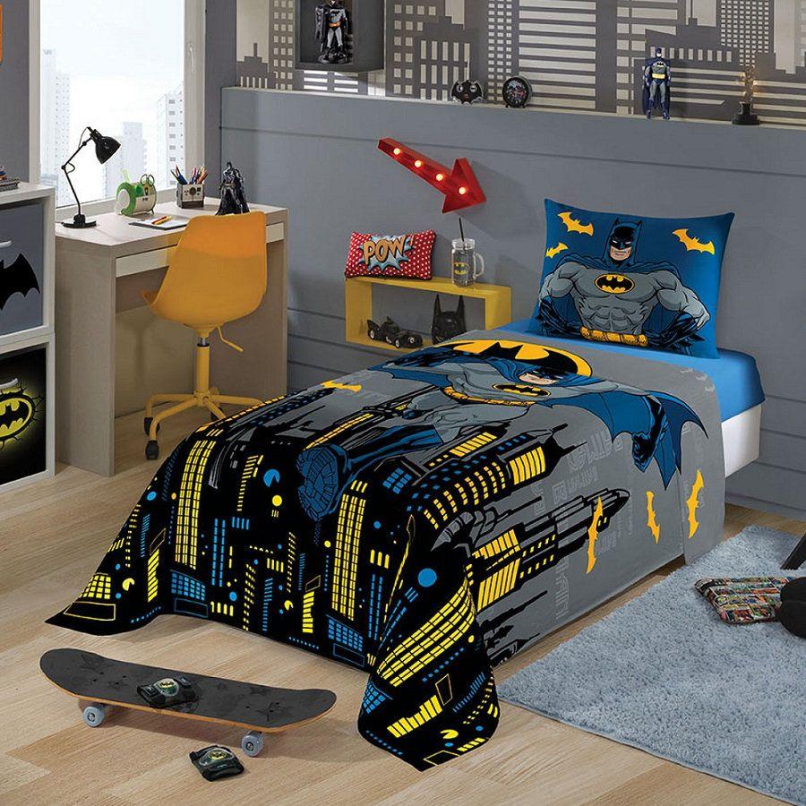 Jogo de Cama Infantil Batman 03 Peças 1,50x2,10m Lepper
