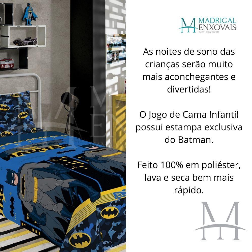 Jogo de Cama Infantil Batman Lepper 02 Peças Microfibra