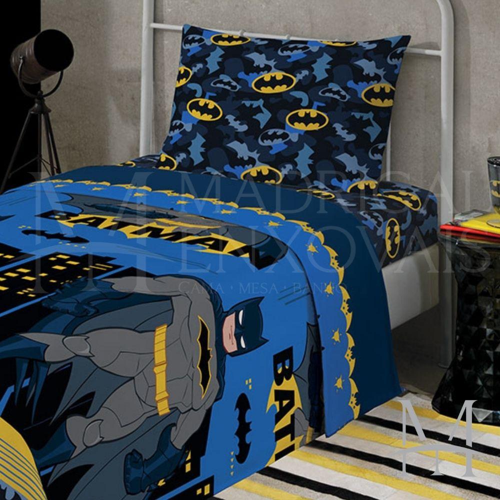Jogo de Cama Infantil Batman Lepper 03 Peças Microfibra